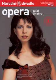 Prague Opera: Jana Sýkorová as Carmen, Prague National Theatre 2002-2008. Title page of the Prague National Theatre Bulletin, January 2003