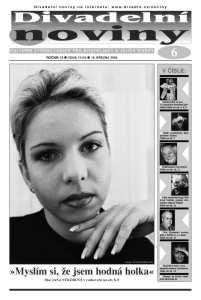Jana Sýkorová, alto. Title page of Divadelní noviny, March 2003