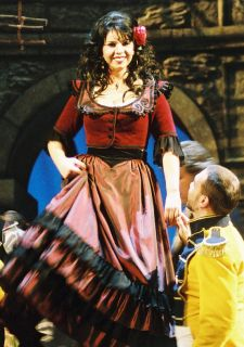 Jana Sykorova, alto, as Carmen with the Prague State opera, 2004-8