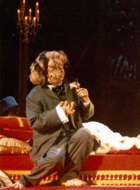 Jana Sykorova as Joseph Merrick, opera Joseph Merrick dit Elephant Man (Petitgirard), French premiere Nice Opera 29 November 2002